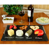 Black Slate Cheese Board with Handles