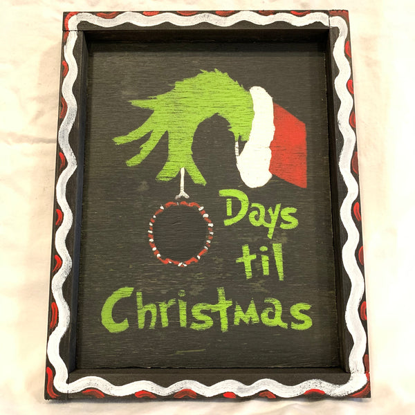 Chalkboard Countdown to Christmas with the Grinch While Stole Christmas