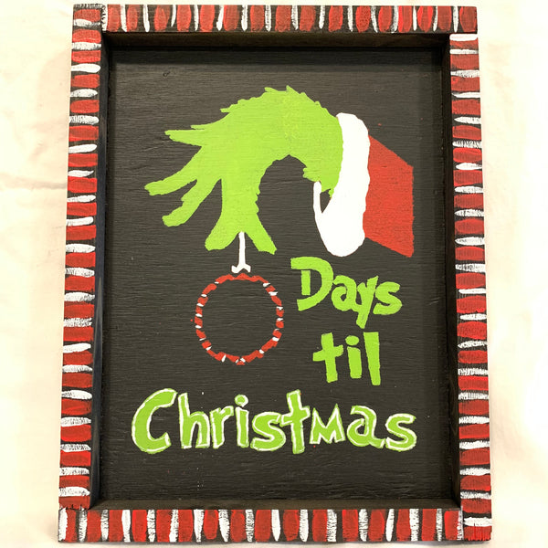 Countdown With the Grinch Wall Sign