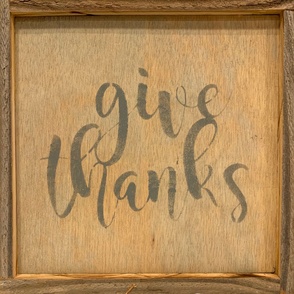 Wall Art-Give Thanks