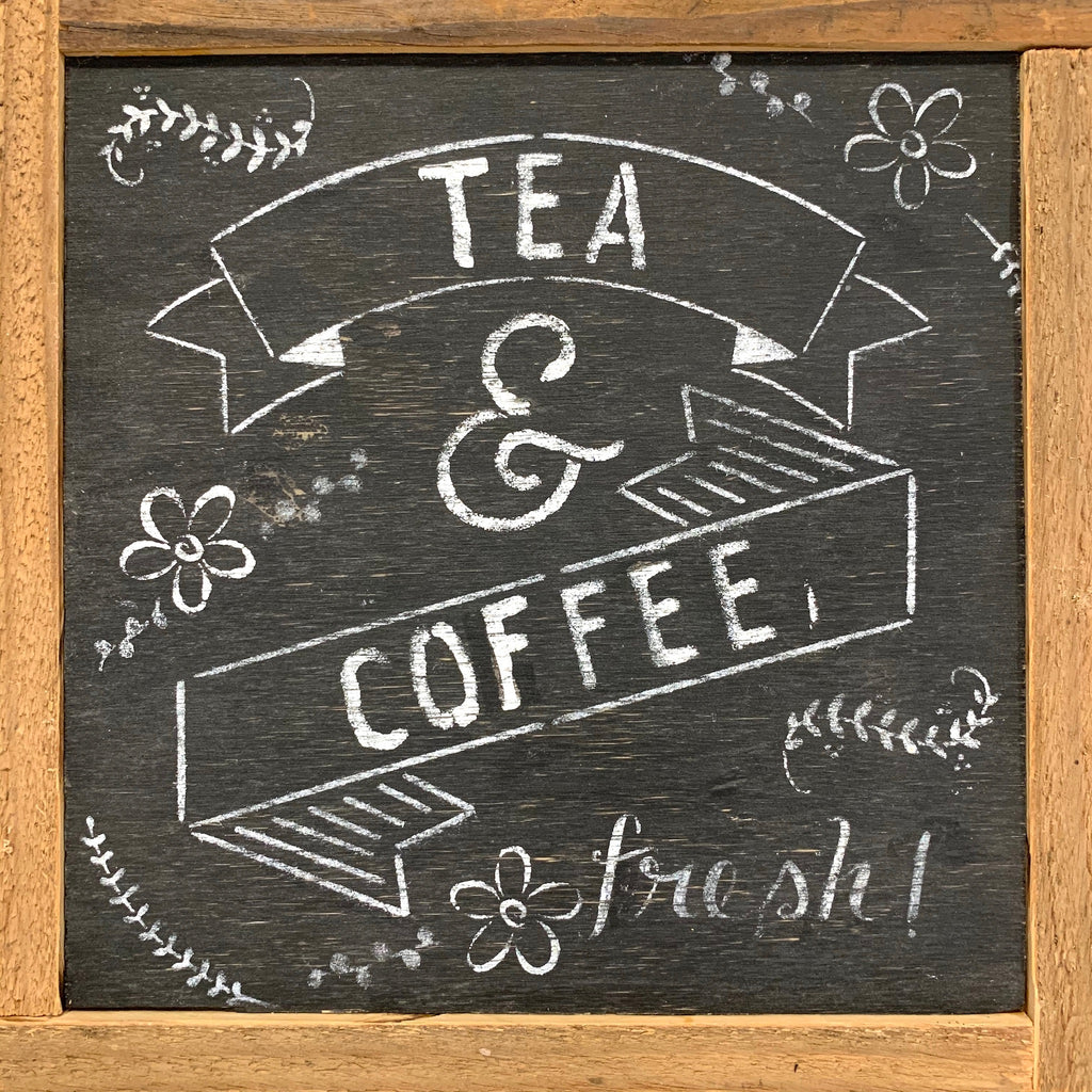 Rustic Wall Sign- Tea & Coffee