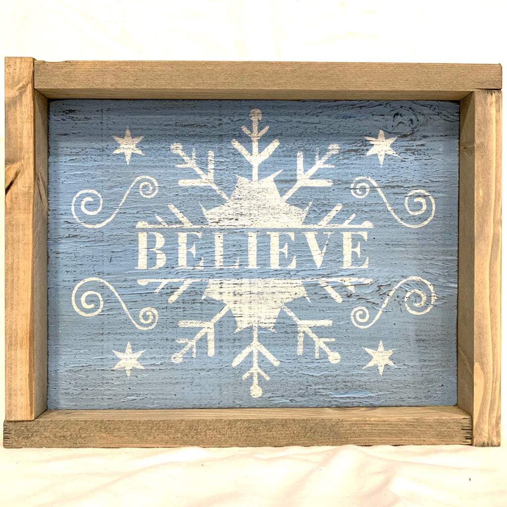 Rustic Wall Sign- Believe