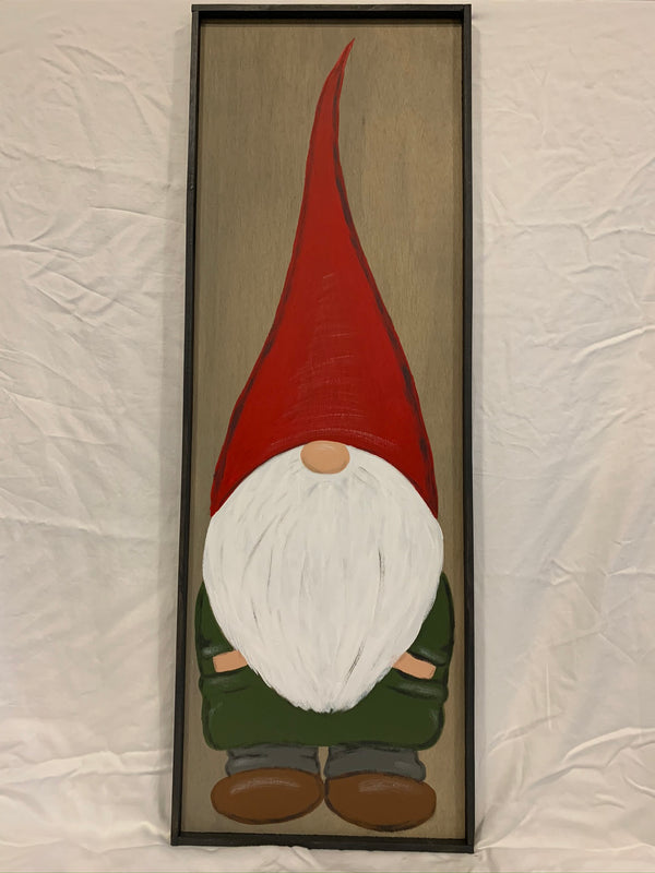 Large Christmas Elf Gnome Wall Sign