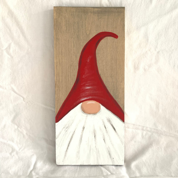 Small Christmas Gnome Wall Sign