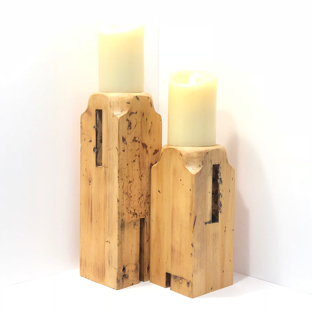 Wood Candle Pedestal