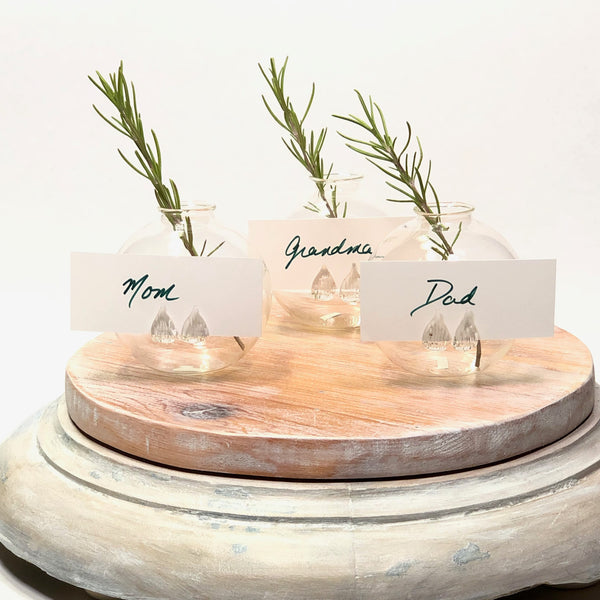 Bud Vase Name Card Holder