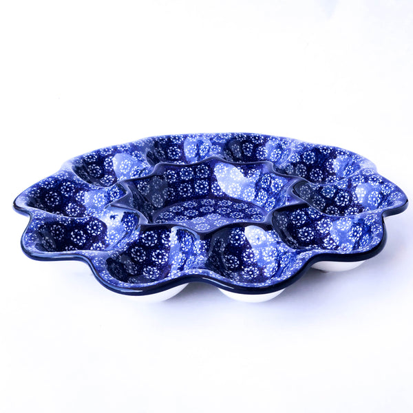 Handmade Polish Pottery- Egg Plate