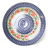 Polish Pottery Large Platter-blue, green, red, and white, round