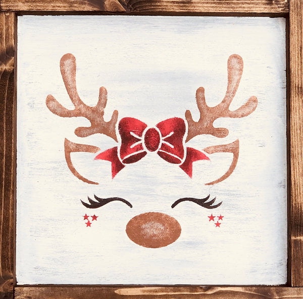 Christmas Reindeer Wall Sign