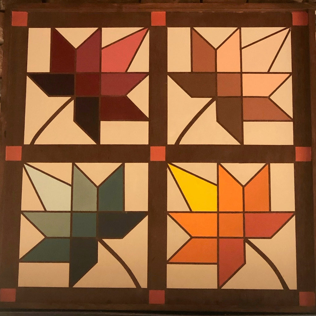 Maple leaf autumn barn quilt, 3'x3',on wood, hand painted