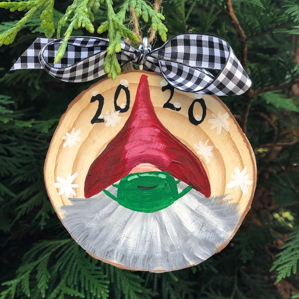 Gnome with mask Christmas Ornament