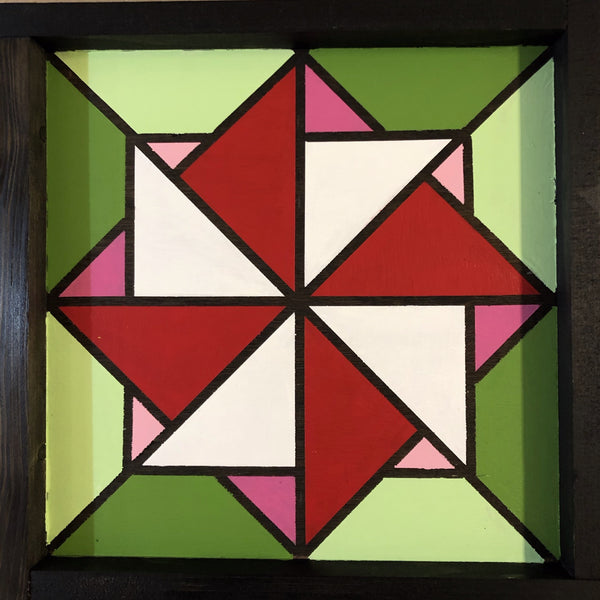 Mini-Barn Quilt for Christmas