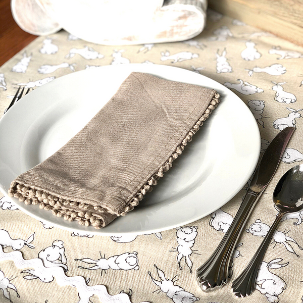 Hand-Made Bunny Table Runner or Valance