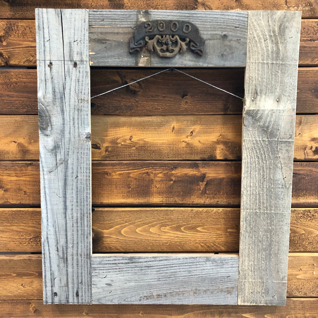 Rustic Wood Frame From Pallet Wood Millenial