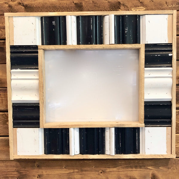 Black and White Repurposed Trim Frame