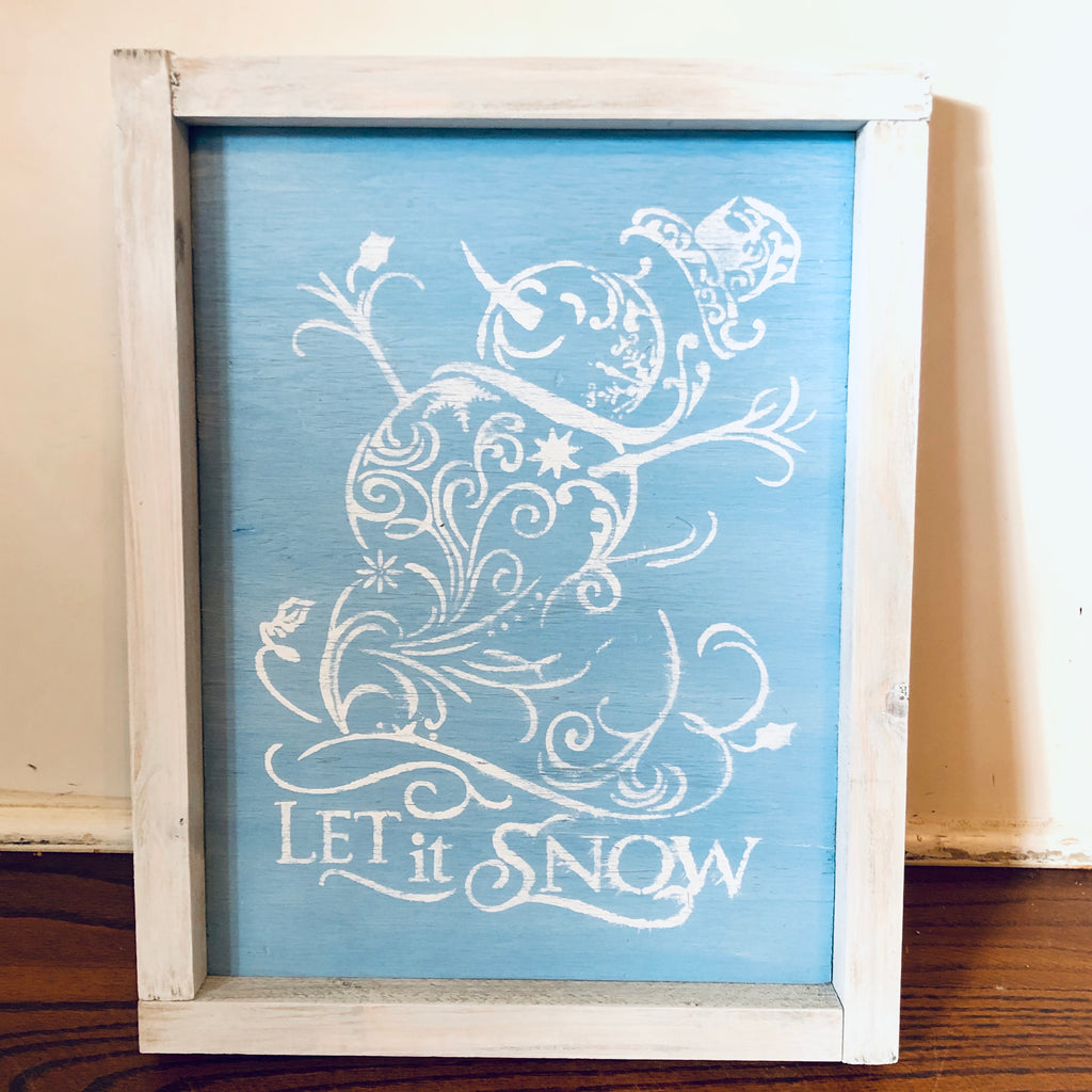 Rustic Wall Sign- Let it Snow