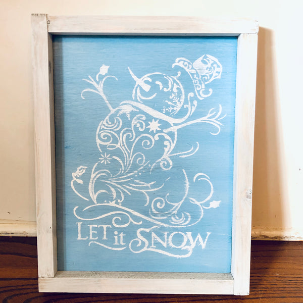 Christmas Art-Let it Snow