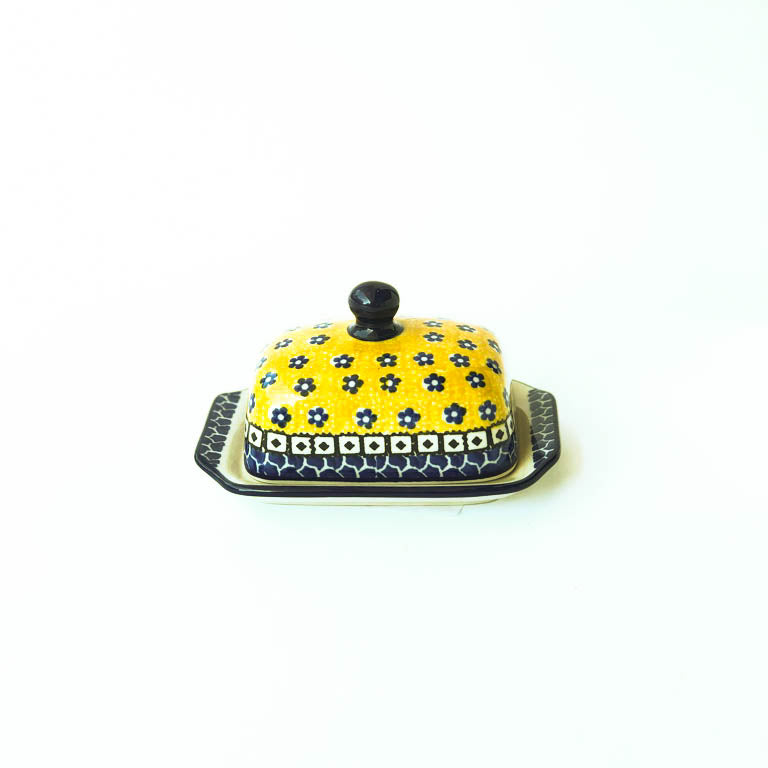 Handmade Polish Pottery- Butter Dish