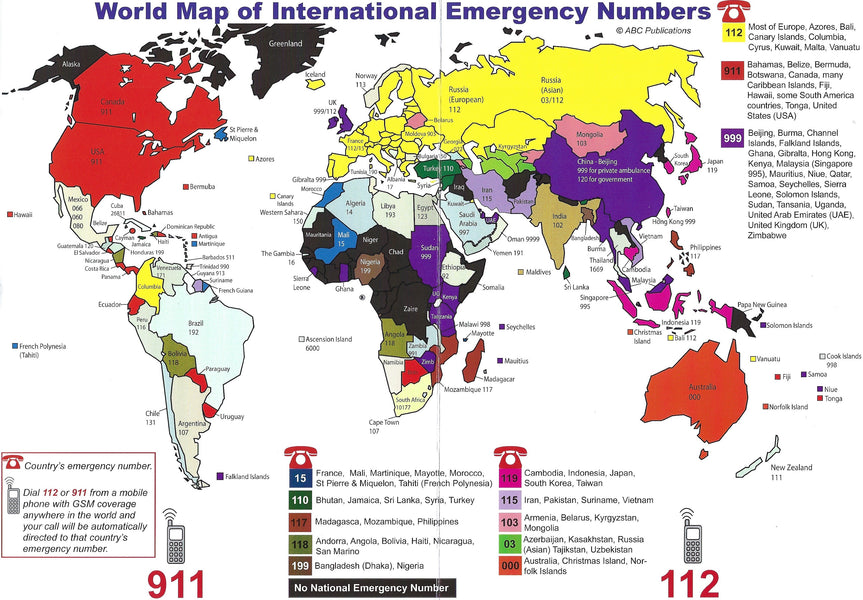 Alpha One Medical - Emergency Phone Number World Map