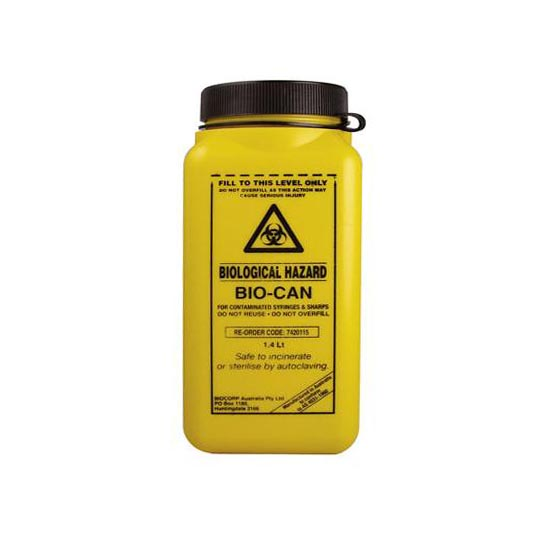 1.4L Sharps Container