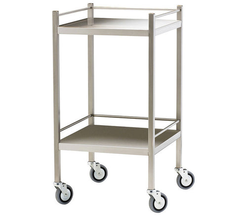 Stainless Steel Treatment Trolley - Two Shelves