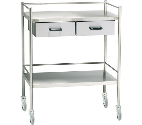 Stainless Steel Treatment trolley - Two Draws