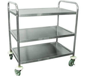 Stainless Steel Lightweight Trolley - Three Shelves