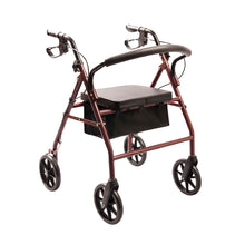 Load image into Gallery viewer, Rollator – Four Wheeled Walker with Seat