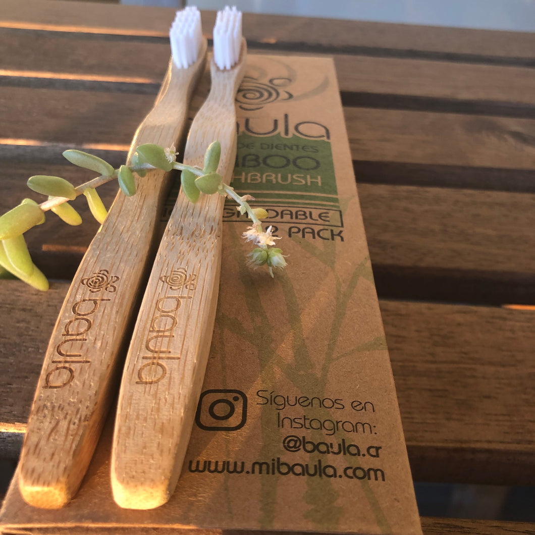 Bamboo Toothbrush 2-Pack
