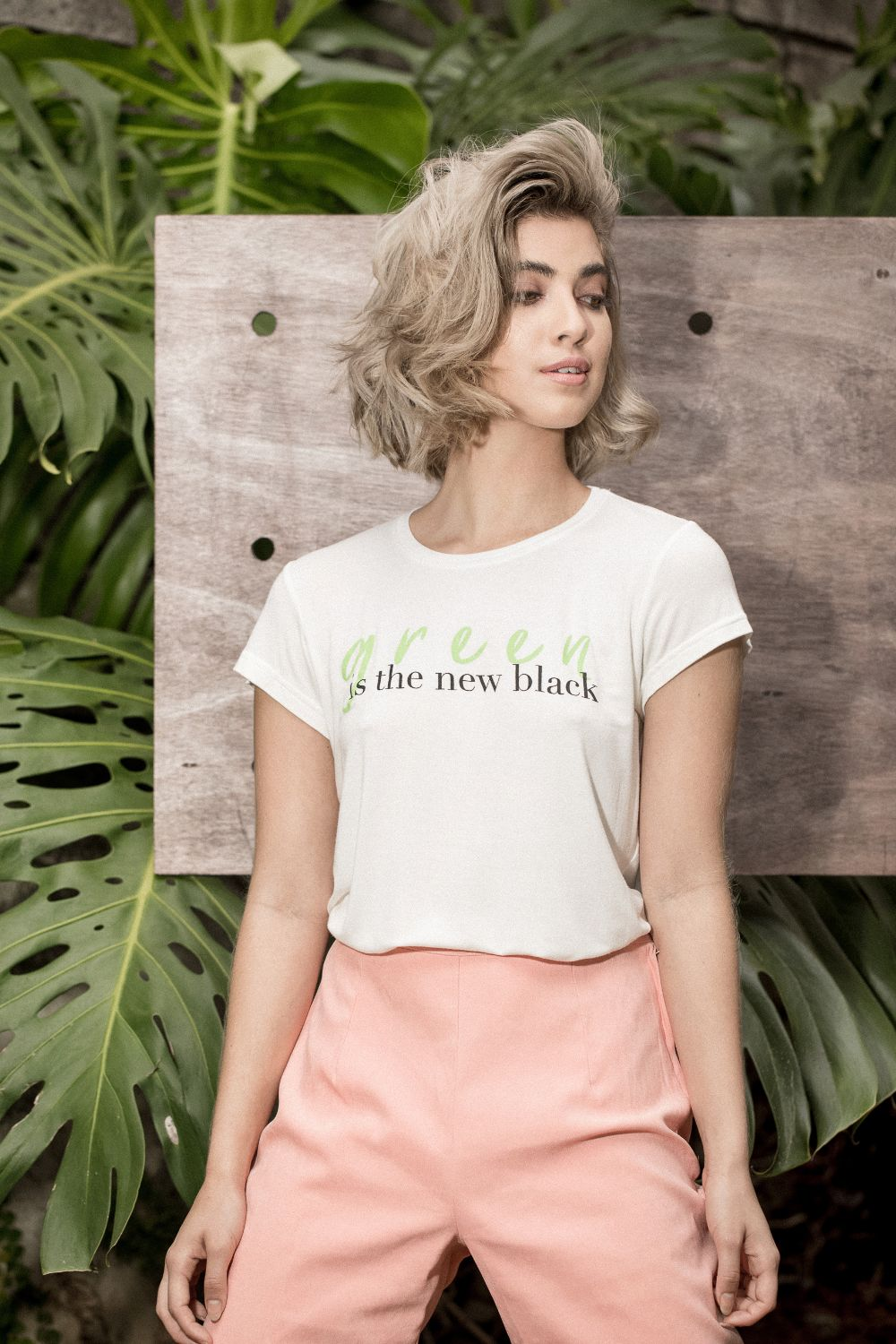 "Camisa ""Green Is The New Black"""