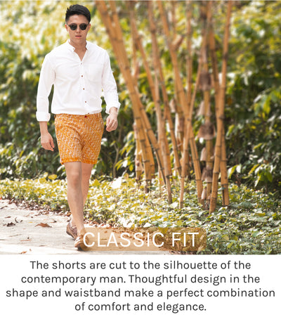 Classic Fit. The shorts are cut to the silhouette of the contemporary man. Thoughtful design in the shape and waistband made a perfect combination of comfort and elegance.