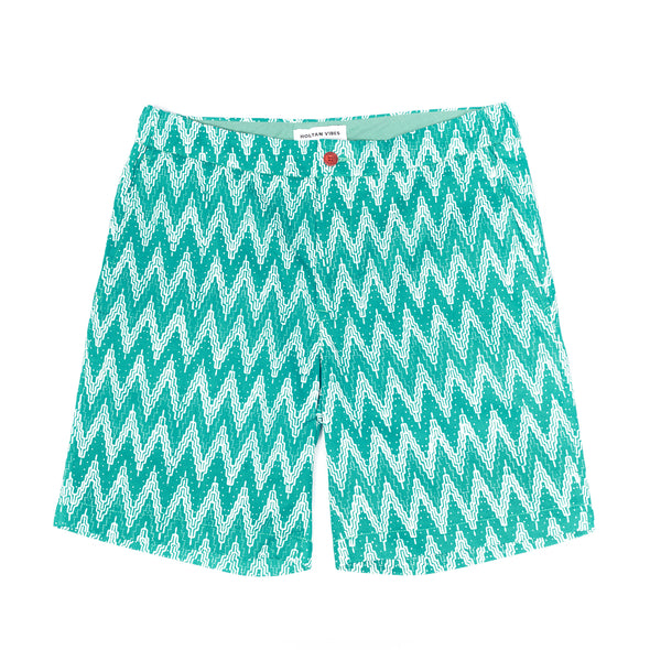 Green Relaxed Weber Shorts