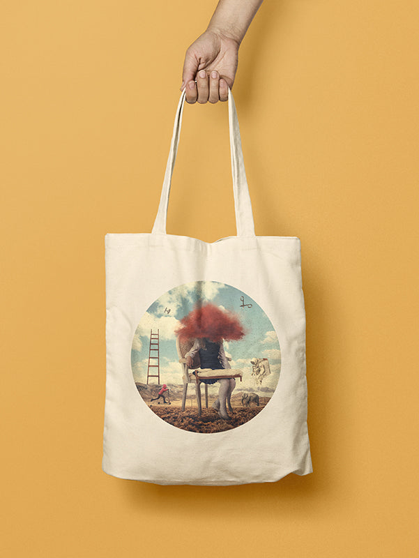 Red Cloud 26 Cotton Tote Bag