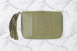 OVAE Betty Zip Wallet Olive