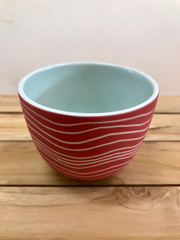 KOA BY KAITLIN Tea Bowl 350ml – Red Clay / Mint