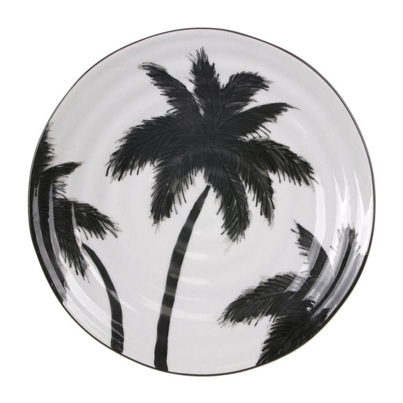 HK LIVING Jungle Porcelain Serving Plate - Palms