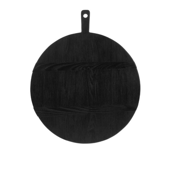 HK LIVING Black Breadboard Round L