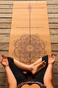 I AM THAT YOGA Luxury Natural Cork Alignment Mat
