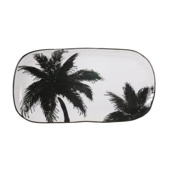 HK LIVING Jungle Porcelain Serving Tray - Palms