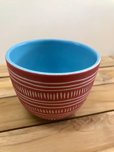 KOA BY KAITLIN Tea Bowl 350ml – Red Clay / Stone Blue