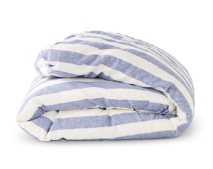 SOCIETY OF WANDERERS Duvet Cover Chambray Stripe - King