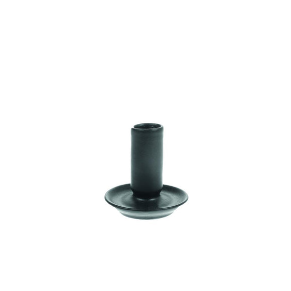 HK LIVING  Ceramic Candle Holder M Black