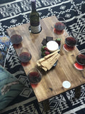 INDI TRIBE COLLECTIVE Folding Wine Table - 6 Glass Luxe Hardwood