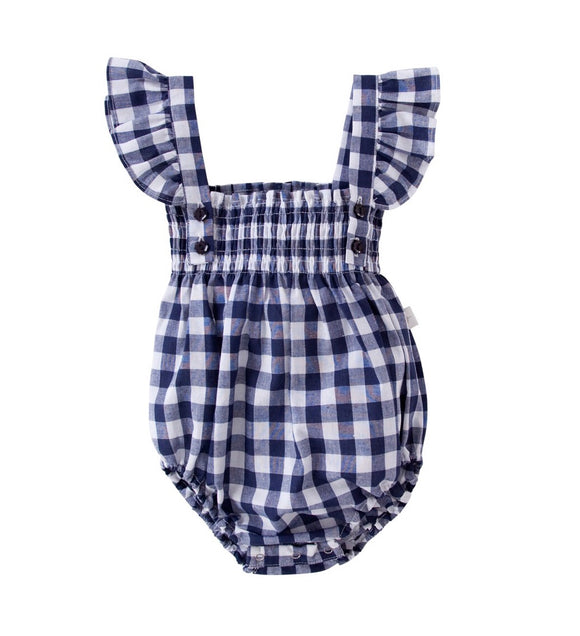 PEGGY Edie Playsuit In Gingham 40% OFF