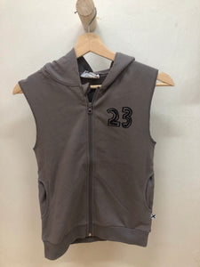 MINTI Alley Oop Sleeveless Zip Up - Dark Grey