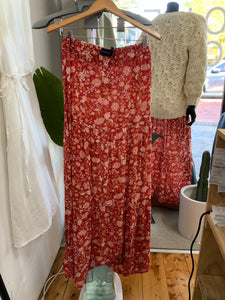 MINKPINK Red Floral Maxi Skirt