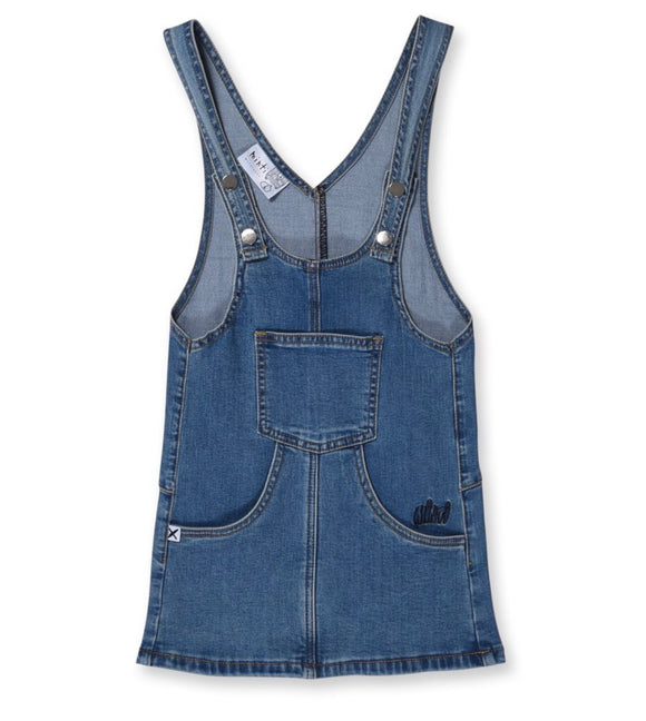 MINTI Blasted Denim Dress - Blue Wash