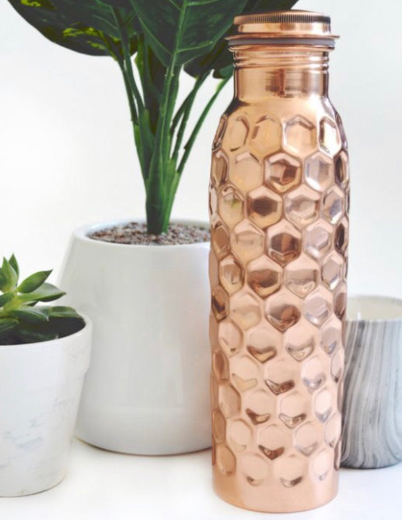 I AM THAT YOGA 900ml Copper Bottle - Hammered