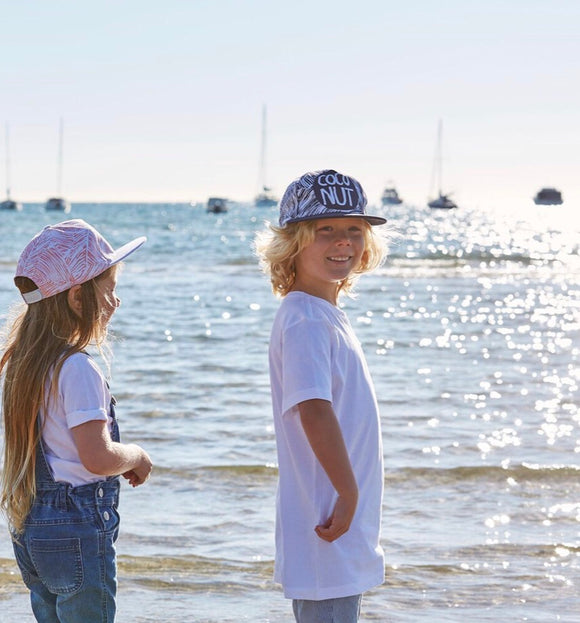 OURLIEU Coconut Navy Kids Cap