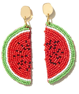 EMELDO // Watermelon Gold Stud + Beaded